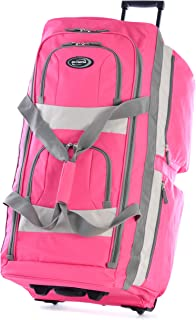 Olympia USA 33 Inch 8 Pocket Rolling Duffel, Hot Pink (Pink) - SRD-33-HP