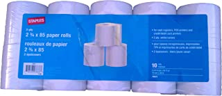 Staples 2-ply 2 3/4 X 85 Paper Rolls. (Pack of 10 Rolls) 18221