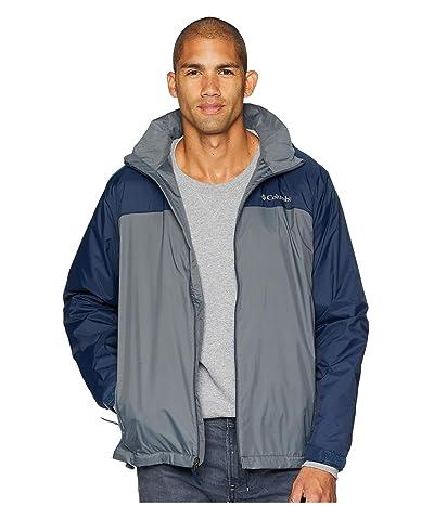 Columbia Glennaker Lake Lined Rain Jacket (Graphite/Collegiate Navy) Men