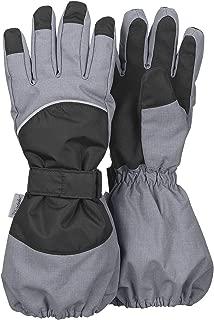 Sterntaler Jungen Stulpen-Fingerhandschuhe gefüttert wasserdicht mit Klett, silbergrau - 4321820