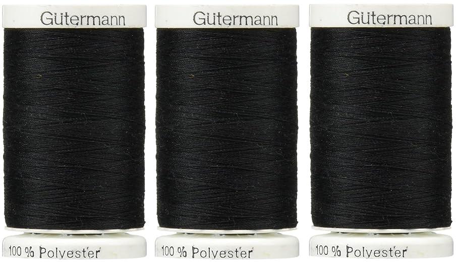 Sew-All Thread 547 Yards-Black (3 Pack)