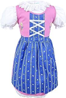 Schrammel Kinderdirndl Edelstickerei Rosa Dirndl Bluse im Set Blumenrankerl Schuerze