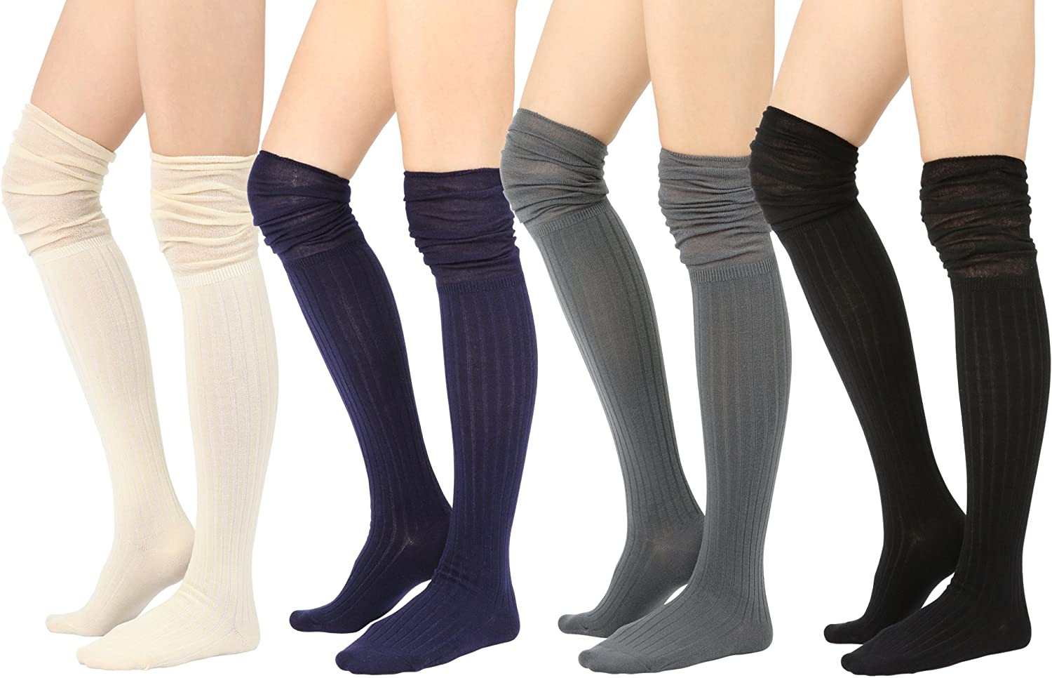 STYLEGAGA Winter Knit Over The Knee High Boot Socks
