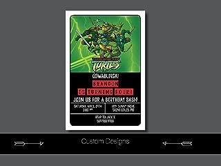 teenage mutant ninja turtle invitation wording