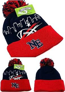 New England New Leader Skyline Blue Red Era Toque Cuffed Pom Beanie Knit Hat Cap