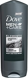 Dove Men+Care Elements Body Wash, Charcoal and Clay, 13.5 Ounce