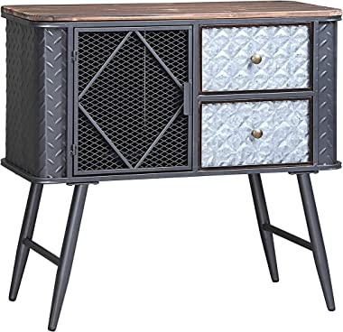 4D Concepts Forester CABINET, 31.5x13.78x29.92, MULTI-TEXTERED GRAY W/DISTRESSED WOOD