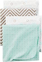 Carter's Baby 4-Pack Flannel Receiving Blankets, Taupe Dots, One Size
