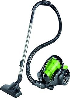 Grundig VCC 6270 A - Aspiradora de trineo, 800 W, eficiencia energ?tica A, color negro y verde