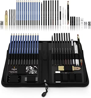 Castle Art Supplies Graphite Drawing Pencils and Sketch Set (40-Piece Kit), Complete..