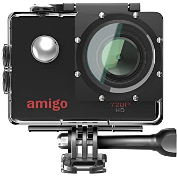 Amigo AC-11 HD Sports Action Camera with 12MP High Resolution Lens   720p HD Image with Wide Angle Lens and Waterproof Upto 30 Meters (Black)