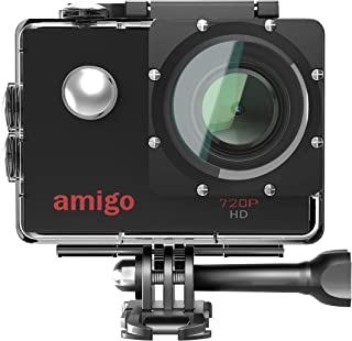 Amigo AC-11 HD Sports Action Camera with 12MP High Resolution Lens   720p HD Image with Wide Angle Lens and Waterproof Upt...