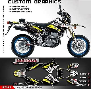 Kungfu Graphics Custom Decal Kit for Suzuki DRZ400 SM Supermoto 1999 2000 2001 2002 2003 2004 2005 2006 2007 2008 2009 2010 2011 2012 2013 2014 2015 2016 2017 2018 2019, Black Yellow
