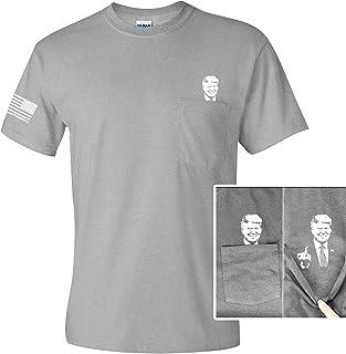 Printed Kicks Trump 2020 Funny Pocket T Shirt, Make Liberals Cry Again