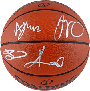 Gordon Hayward, Al Horford, Kyrie Irving, and Jayson Tatum Boston Celtics Autographed Indoor/Outdoor Basketball - Fanatics Authentic Certified