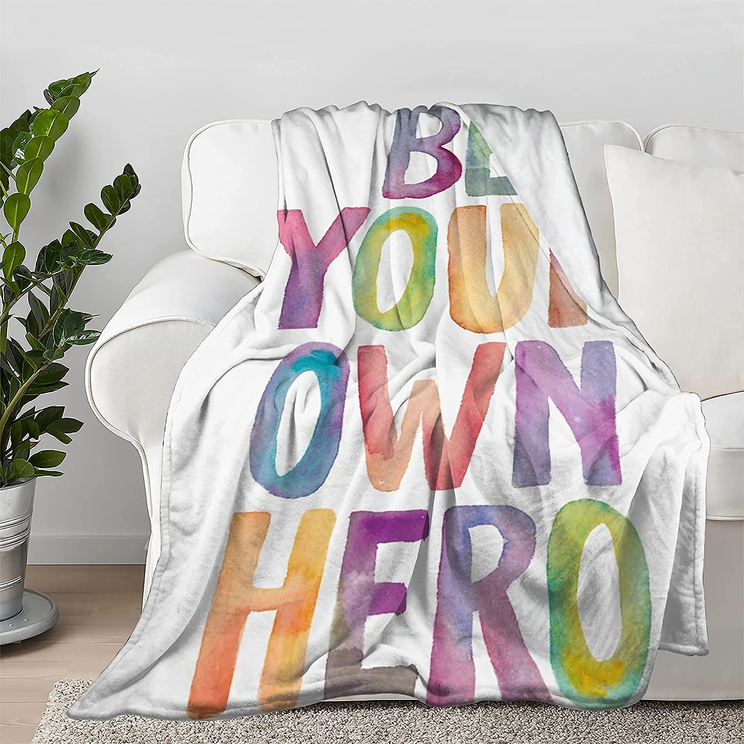 Lokapala Be Your Tucson Shipping included Mall Own Hero Throw Bedspread Quilt Blanket Flannel