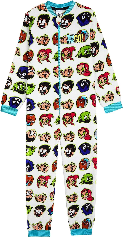 Teen Titans Go! Pijama Niño de Una Pieza, Pijamas Enteros de Superheroes, Merchandising Oficial Regalos Originales para Niños Niñas Adolescentes 4-14 ...