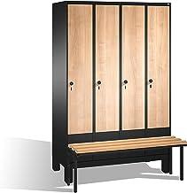 Vestuario taquilla Evolo con asiento Banco, 4columnas, H1850X B1200X T500/815mm