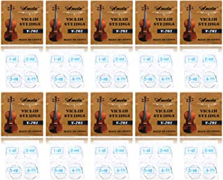10 Full Sets Nickel Ball End Stainless Steel 3/4 4/4 Size Violin Strings