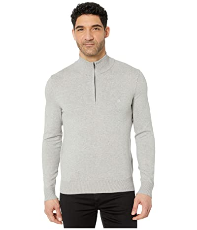 Calvin Klein Cotton Modal Long Sleeve 1/4 Zip (Heroic Grey Heather) Men