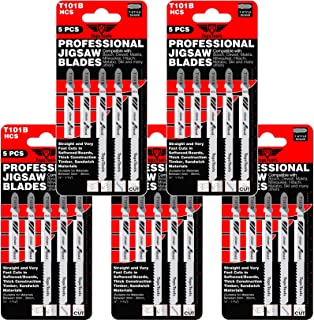 25 hojas de sierra para caladora TopsTools T101B para Bosch, DeWalt, Makita, Milwaukee y muchas más