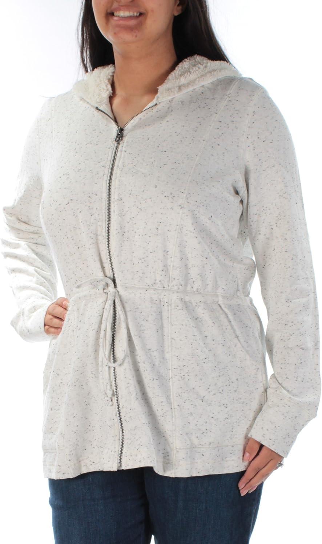 Lucky Brand Women's NEP Terry Sherpa Hoodie Anorak Sweatshirt Jacket