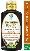 Liquid Turmeric Curcumin w/Bioperine 1650mg Maximum Strength   Highest Potency of Turmeric, Black Pepper & Vitamin C   Anti-Inflammatory, Joint Support & Pain Relief   98% Absorption Rate   32 Serv