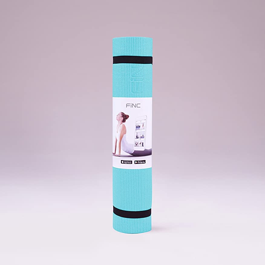 幻想的地中海症状FiNC ヨガマット トレーニングマット クッション性 グリップ力 6mm 軽量