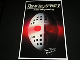 TOM MORGA Signed 11x17 Friday the 13th Part 5 Poster Jason Voorhees Autograph