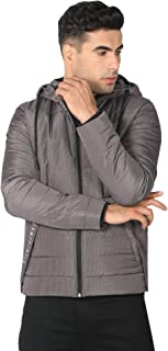 Octave Men's Full Sleeve Solid Quilted Hood/Hooded Jacket