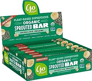 Go Raw Seed Bars, Spirulina Sesame | Keto | Gluten Free Snacks | Vegan | Organic | Paleo | Superfood (10 Bars)