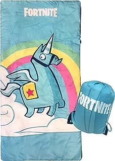 Jay Franco Fortnite Brite Unicorn Slumber Sack - Cozy & Warm Kids Lightweight Slumber Bag/Sleeping Bag (Official Fornite Product)