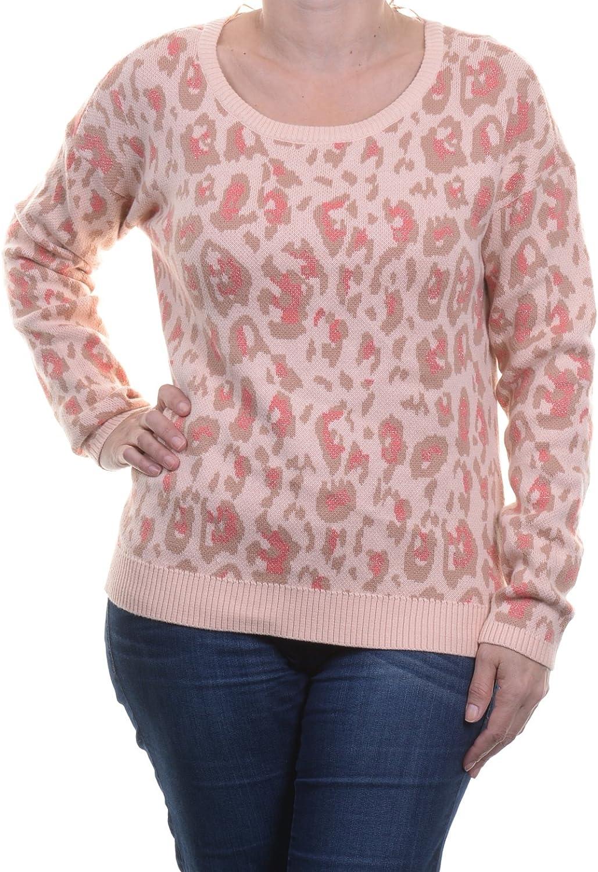 Maison Jules LongSleeve LeopardPrint Sweater