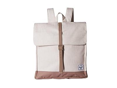 Herschel Supply Co. City Mid-Volume (Overcast Crosshatch/Pine Bark) Backpack Bags