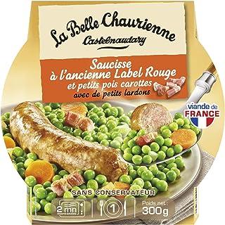 La Belle Chaurienne Saucisse à l'Ancienne Label Rouge/Petits Pois Carottes 300 g