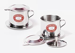 Vietnamese Coffee Filter. Size small to X-Large. 1 or 2 Pack (2, Medium (8 oz))