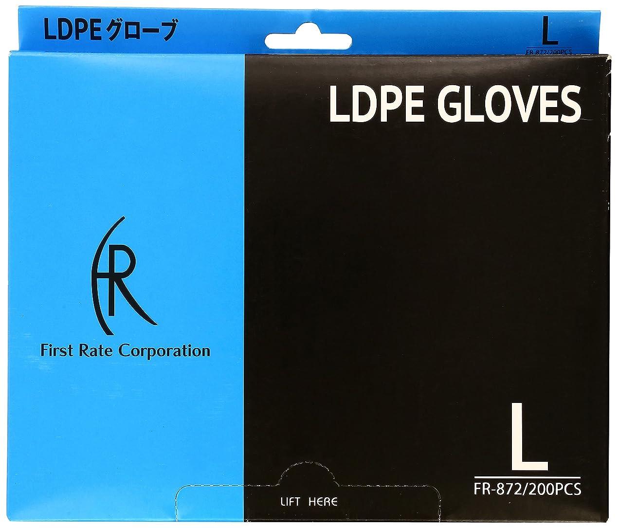 解釈畝間類人猿ファーストレイト LDPEグローブ(透明) FR-872(L)200マイイリ