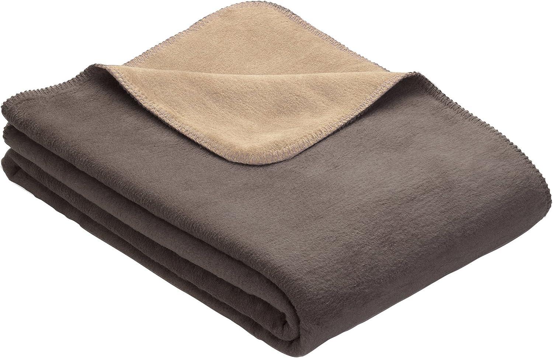 IBENA Sorrento Plush Reversible Bed Blanket K Rare Taupe Light Dark Max 61% OFF