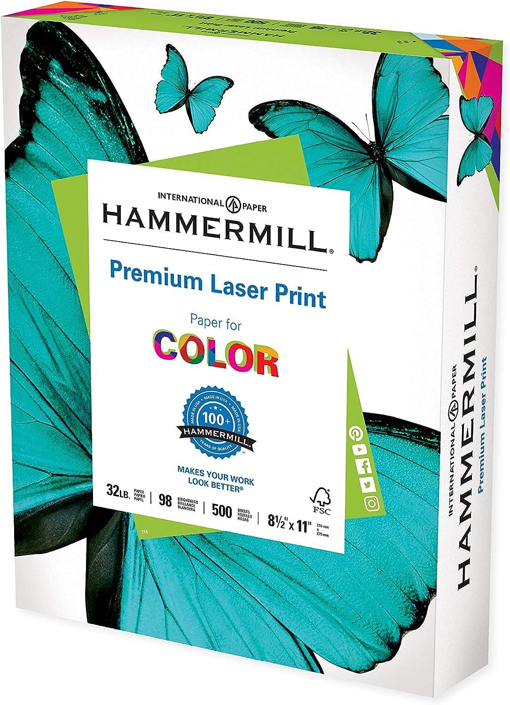 Printer Paper Premium Shipping included Finally popular brand Laser Print 32 lb 8.5 x 11-1 500 Ream S