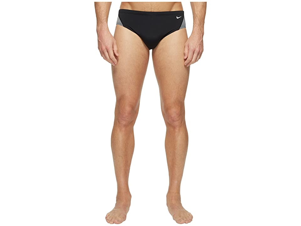 Nike Surge Color Block 100% Poly Brief (Black) Men