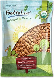 Organic Almonds, 5 Pounds - Non-GMO, Kosher, No Shell, Whole, Unpasteurized, Unsalted, Raw, Bulk
