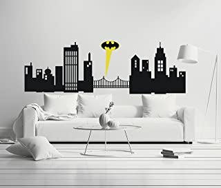 Gotham City - Boy Girl Room - Mural Wall Decal Sticker For Home Car Laptop (Wide 30