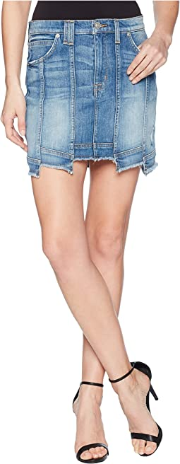 Weekender Step Hem Jean Skirt in Frenzy
