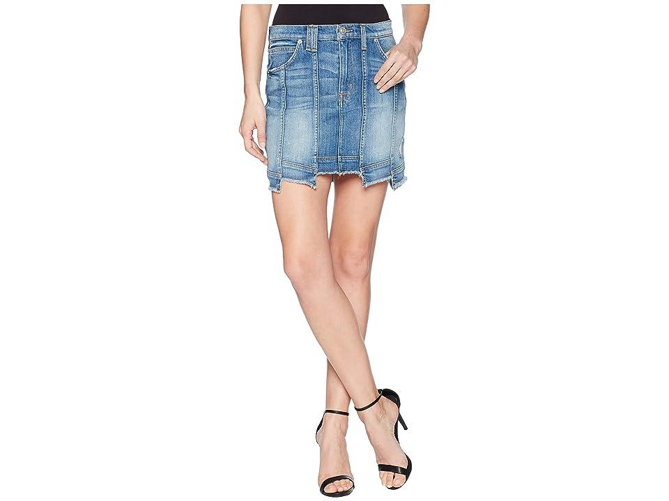 Hudson Weekender Step Hem Jean Skirt in Frenzy (Frenzy) Women