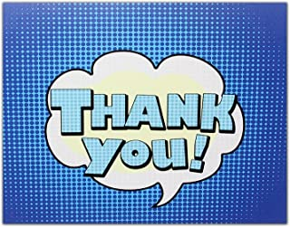 Thank You Cards - Blue - Blank on the Inside - Perfect for Birthdays - Includes Cards and Envelopes - 5.5