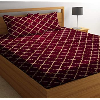 ZCI Microfiber 144 TC Bedsheet (Double_Multicolour)
