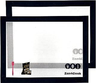 Kit professionnel tapis de cuisson en silicone anti-adhésif. Feuilles rectangulaire idéal pour réussir vos pâtisseries. To...