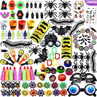 THAWAY Halloween Party Favors Toys Assortment 100PCS, School Classroom Rewards, Trick or Treating, Halloween Miniatures, Halloween Prizes for Kids, Novelty Bulk Party Supplies Toys