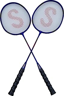 PROSPO Super-Shot HI-TECH Graphite Badminton Racquets – Set Includes 2 PCS/Indoor, Outdoor Playing/Great Utility Product for AMATURES & Professionals