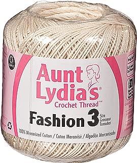 Aunt Lydia's Bulk Buy Fashion Crochet Cotton Crochet Thread Size 3 (3-Pack) Natural 182-226